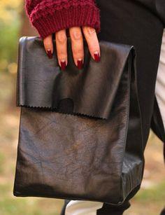 DIY Jil Sander leather lunchbag