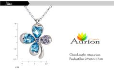 Beautiful #Flower Clover - Color #Pink & #Blue #Indian #Jewelry #Swarovski #crystal #Pendant