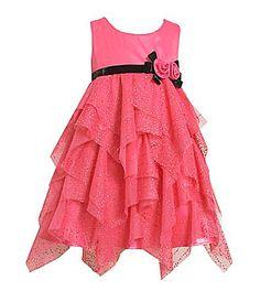 Bonnie Jean Glitter Mesh Dress for the girls!