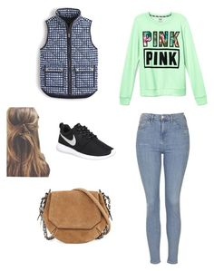 """""""Untitled #48"""" by robotwin on Polyvore featuring Victoria's Secret, J.Crew, Topshop, NIKE and rag & bone"""