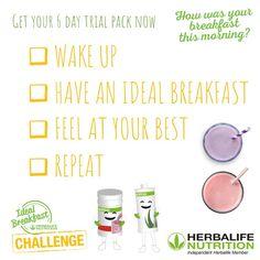 Good morning everyone! #HerbalifeShake #HerbalifeNutrition