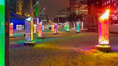 FÉÉRIE HIVERNALE MONTRÉAL WINTER WONDERLAND Transformers, Montreal Ville, Times Square, Fair Grounds, Fun, Winter Wonderland, Travel, Rainbow, Colour