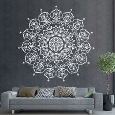 Patrón indio Bohemia Mandala pared calcomanías por DecalHouse