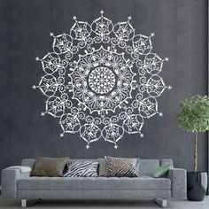 Böhmischen indischen Muster Mandala Wall Decals florale Vinyl Aufkleber Yoga Kunst Ornament Design innere Wandbild abnehmbare Schlafzimmer Haus Dekor AR400