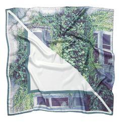 """LONDON LIMITED"" silk twill scarf 90x90cm. New season SS13/14 from Good & Co."