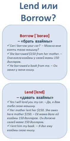 Английские слова, которые мы путаем: Lend vs. Borrow. #learnathome #english…