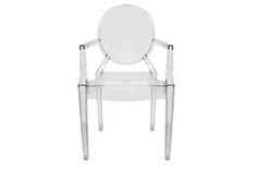Ghost Chair - Clear Acrylic Stackable Arm Chair (set of 2)