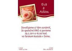 Svadobné oznámenie - SV014
