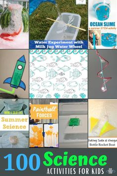 These 100 science activities for kids are paired with other STEAM disciplines for some great hands-on learning opportunities! #STEMeducation #kidscience #summerscience #STEAM