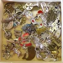 76 FUN assorted charms! Free Shipping