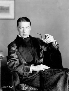 """❦ Clive Brook  Promotional photo for the 1932 film: """"Sherlock Holmes""""  Photographer unknown."""