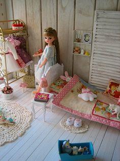 きら☆リカ リカちゃん(キャッスル) Dolly Doll, Kawaii Room, Cute Dolls, Ball Jointed Dolls, Baby Dolls, Doll Clothes, Toddler Bed, Barbie, Room Decor