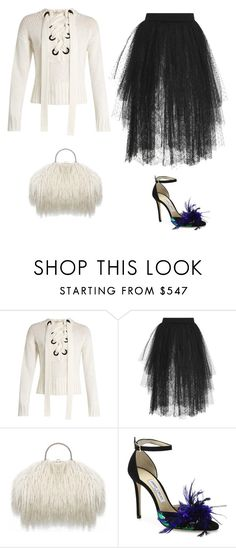 """Black and white"" by abarrera-i ❤ liked on Polyvore featuring Joseph, Elie Saab and Jimmy Choo"