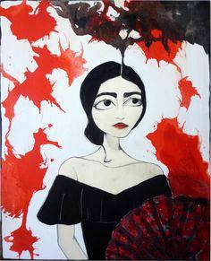 """Maria Callas  80x100 cm - tecnica mista su tavola    """"Dopo tutto, abbiamo l'arma più grande nello nostre mani: siamo donne."""""""