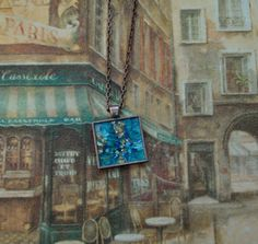 SALE - Original Dana Marie Wearable Art  - Miniature Abstract Painting Necklace by danamarieart, $25