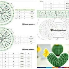 손뜨개~도안및자료실 | 밴드 Crochet Fruit, Crochet Cactus, Diy Crochet, Crochet Baby, Crochet Flower Patterns, Crochet Doll Pattern, Crochet Dolls, Crochet Flowers, Easy Crafts