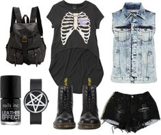 """""""Drop Dead -/ Dr. Martens fashion outfit"""" by barbora-jozefikova on Polyvore"""