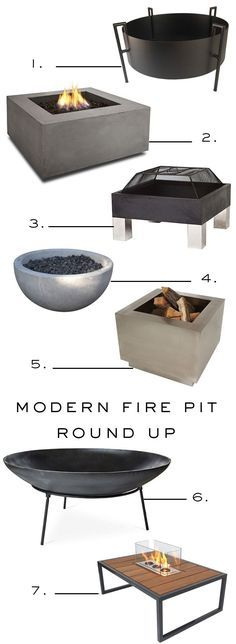 Modern Fire Pit Roundup