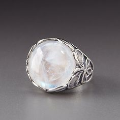 Shablool Sterling Silver Moonstone Ring by Lenox