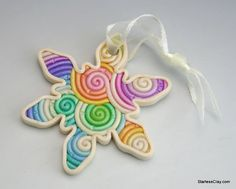 Hey, I found this really awesome Etsy listing at https://www.etsy.com/listing/205474878/rainbow-snowflake-christmas-ornament-in