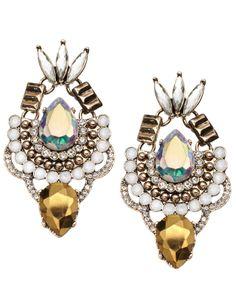 Ultimate Disco Chandelier Earrings   Clear   Accessorize
