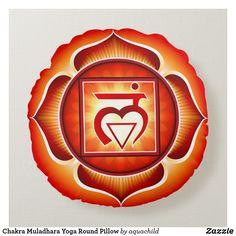 Shop Chakra Muladhara Yoga Round Pillow created by aquachild.