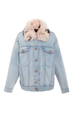 Bleach Boyfriend Denim Jacket  by ALEXANDER WANG for Preorder on Moda Operandi