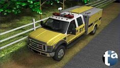 497 - TAEVision 3D Mechanical Design Automotive Machinery Construction 'Works on rural road Suffolk County NY' Ford Trucks OffRoad - FORD TRUCKS F-450 (View Camera B) Service CAT Caterpillar CarterMachinery
