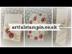 {Four cards, four colours, one stampset - Artful Stampin} - YouTube