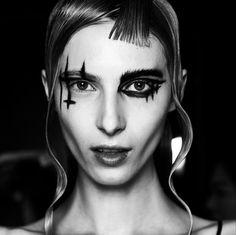Yohji Yamamoto runway Makeup via. @eugenesouleiman