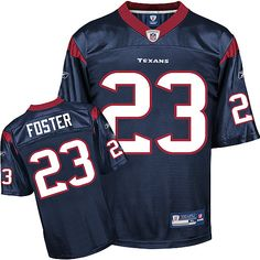 Reebok Houston Texans Arian Foster 23 Blue Authentic Jerseys Sale