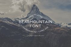 Bearmountain - Handmade Font by Studio FabianFischer on @creativemarket