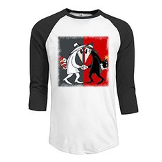 Spy VS Spy Wordless Comic Mens Baseball Crew Neck Cotton Long Or 34 Sleeve Essential Raglan Tee Shirts * Check this awesome product by going to the link at the image.