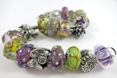 Pistachio & Violets Trollbeads Bracelet by Tartooful, featuring Autumn 2013 uniques