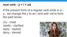 Past Tense - Verbs Ending in Y