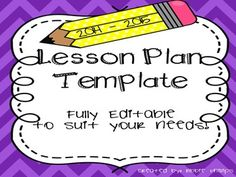 Here it is, my very first TpT product! A fully editable lesson plan template. I used something very similar this past school year and I will never go back to hand-writing my lesson plans again! Save time with my easy to edit template :) With a section for each day of week, each subject area and because my school requires our plans to include Common Core State Standards, I've created a section for that as well.