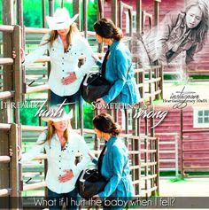 """""""It really hurts."""" Amy & Cassandra - Season 10 Episode 05 https://www.instagram.com/heartlandsjourney/"""