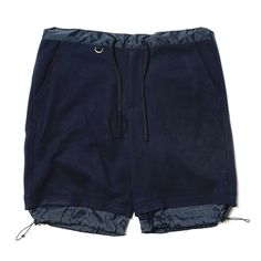 Fake Layered Hem Drawcord Easy Short Pant