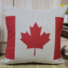 """45*45cm Red White Maple Leaf Canadian Canada National Flag Sofa Cushion Cover :         .        Product name: Cushion Cover CC120  Size:18""""x18"""" (45cmx45cm)  Material: Linen Cotton  Hidden Zip closure  Cushion Cover only, Price is for 1pc.    Remark:   1.The Printing is in the front, no printing only natural color of linen in the back.  2.All cushions are handmade, so please ...Check Price >> http://gethotprice.com/appin/?t=B008QFRGI0"""