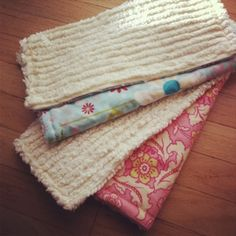 Chenille Burp cloths.  Easy and practical.