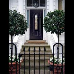 27 pictures of black front doors front entry in black front door How to Choose the Right Front Door Color Front Door Design, Front Door Colors, Gate Design, House Design, Front Gates, Front Entry, Entry Doors, Terrace House Exterior, Victorian Front Doors
