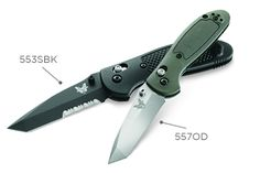 """Benchmade 553 Griptilian Tanto. 154CM stainless steel tanto point blade with Benchmade's ambidextrious AXIS lock. 3.45"""" blade and 3.25oz total weight. I want the half serrated combo edge in the black coating. Want to get two, so the wife and I can have matching pocket knives! $125 #EDC"""