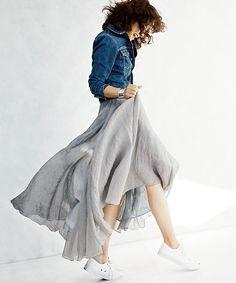 EFFE BEAMSの●AK+1 by EFFE BEAMS / 2WAY リネンマキシスカートです。こちらの商品はBEAMS Online Shopにて通販購入可能です。