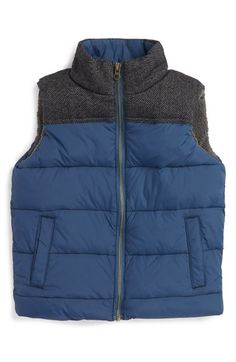 Tucker + Tate Textured Puffer Vest (Little Boys & Big Boys) available at #Nordstrom