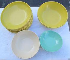 Watertown Lifetime Ware 21 pcs Melmac bowls Multi-color