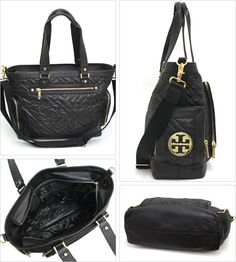 tory burch quilted diaper bag.