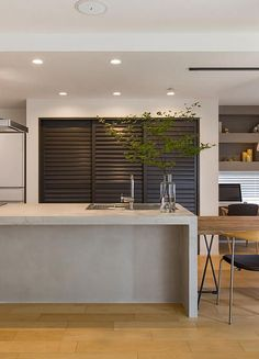 Sweet Home Design, Home Room Design, House Design, Kitchen Layout, Kitchen Design, Natural Interior, Architect House, Industrial House, Japanese House