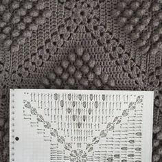 AnaZard - Atelier: Nochmal die mausgraue Häkeldecke