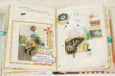 happy little moments altered book | pages from the {happy little moments } altered book by todido