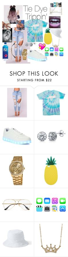 """""""TieDye"""" by trapsoulbre ❤ liked on Polyvore featuring RIPNDIP, Wize & Ope, BERRICLE, Vernier, Miss Selfridge, Ray-Ban, Lands' End, Lord & Taylor and Belcho"""